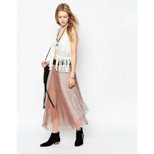 [Free People] Sugar Plum Tutu Tulle Midi Skirt